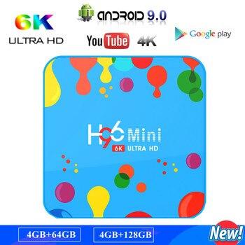 Original H96 mini Android 9.0 TV BOX Smart 4K RK3318 Quad-Core 4GB 128GB H.265 WiFi Media Player Set top box best stable smart tv set top box s905x2 quad core 4gb 64gb h96 max x2 android 8 1 tv boxes h 265 usb 3 0 bluetooth media player