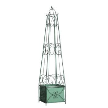 Stile europeo in ferro battuto gabbia per uccelli fiore del basamento piano arrampicata rattan vaso di fiori balcone cortile esterno clematis staffa Shop5383161 Store