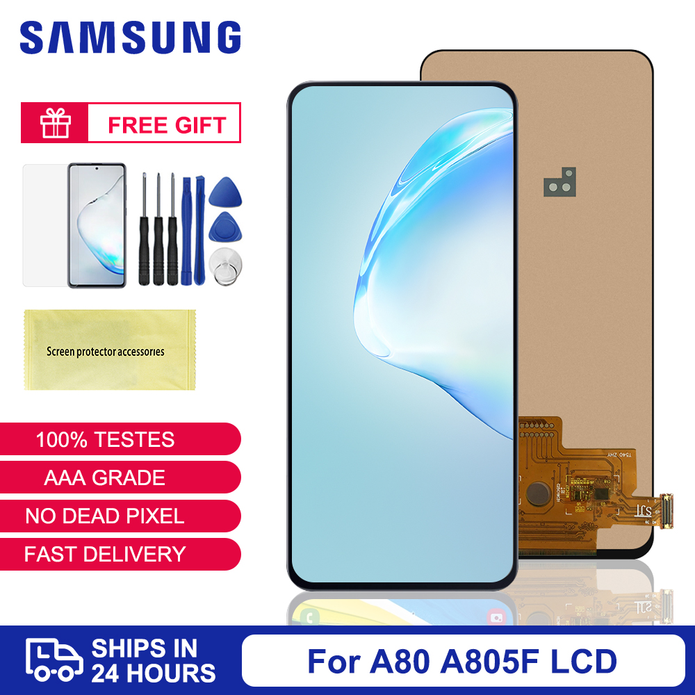 TFT Display For <font><b>Samsung</b></font> <font><b>Galaxy</b></font> <font><b>A80</b></font> <font><b>LCD</b></font> Touch Screen For <font><b>Samsung</b></font> A805 SM-A805F Mobile Phone LCDs Replacement <font><b>Samsung</b></font> <font><b>A80</b></font> <font><b>LCD</b></font> image