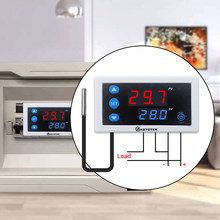Digital Suhu Controller Thermostat W3230 DC 12V 24V AC110V-220V LED Display Pendingin Pemanasan Putih Hitam Tahan Air Penyelidikan(China)