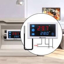 Controlador de temperatura digital termostato w3230 dc 12v 24v AC110V-220V display led aquecimento resfriamento branco preto à prova dwaterproof água sonda