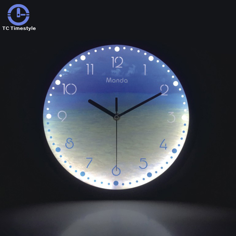 Luminous Wall Clock 12 Inch Silent Night Lights LED Glowing Decorative Clocks Modern Design Living Room Bedroom Nordic Decor