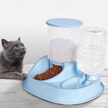 NEW 4L Large Capacity Dual-use Automatic Pet cats Feeder with Water Dispenser dogs Dog Food Bowl Cat Drinking for Supplies pets