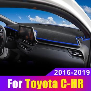Car Dashboard Cover Dash Mat Sun Shad Pad Carpets Trim ANti-UV NON-Slip For Toyota CHR C HR C-HR 2016 2017 2018 2019 Accessories цена 2017