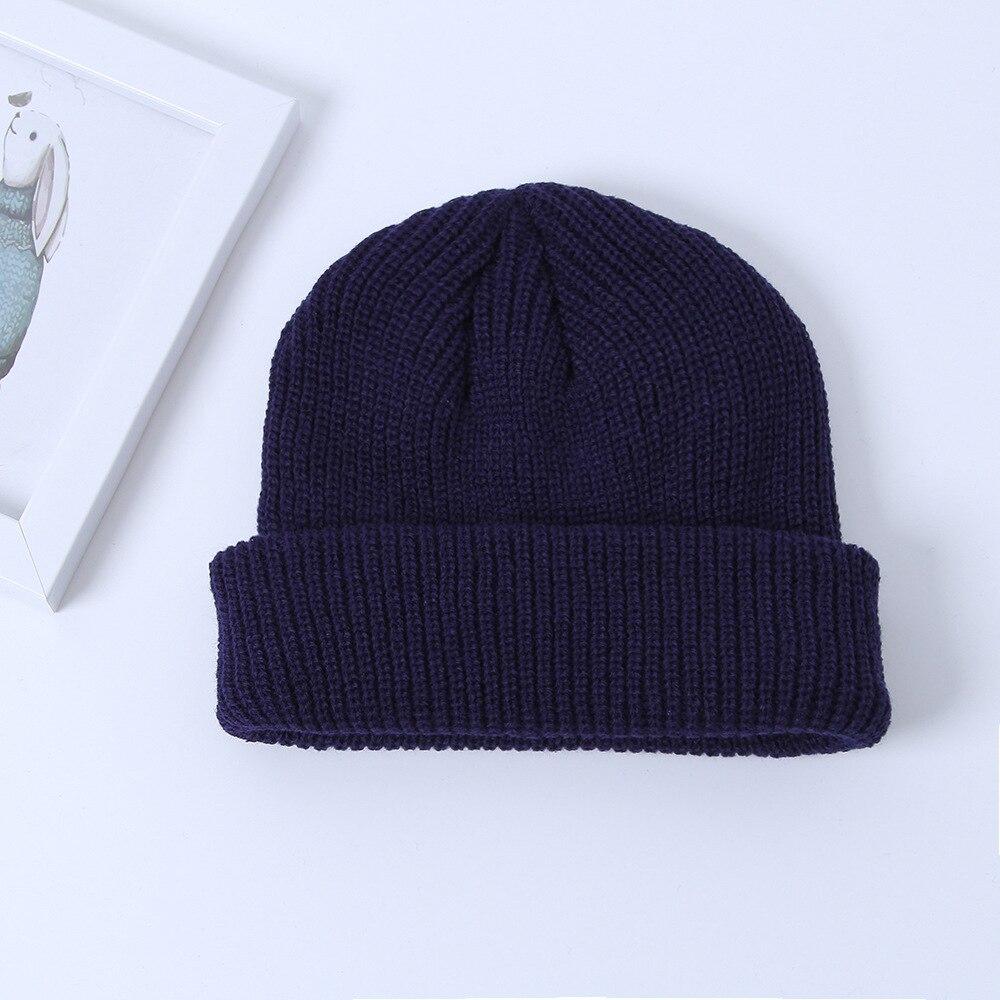 Мужская зимняя теплая шапочка с черепом из уличного корейского стиля, универсальные вязаные шерстяные шапки, уличная Модная женская шапка - 2