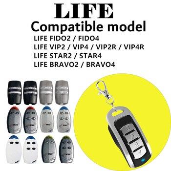 La vida FIDO 2 FIDO 4VIP 2 VIP 4 BRAVO2 BRAVO4garage puerta reemplazo de Control remoto 433mhz transmisor remoto