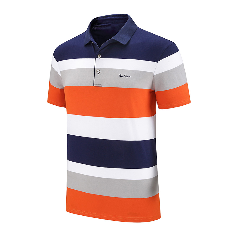 Ucrazy Men 2020 Summer New Classic Striped Casual Cotton Polo Shirts Men Fashion Embroidery Short Sleeve Tops&Tees Polo Men 4XL