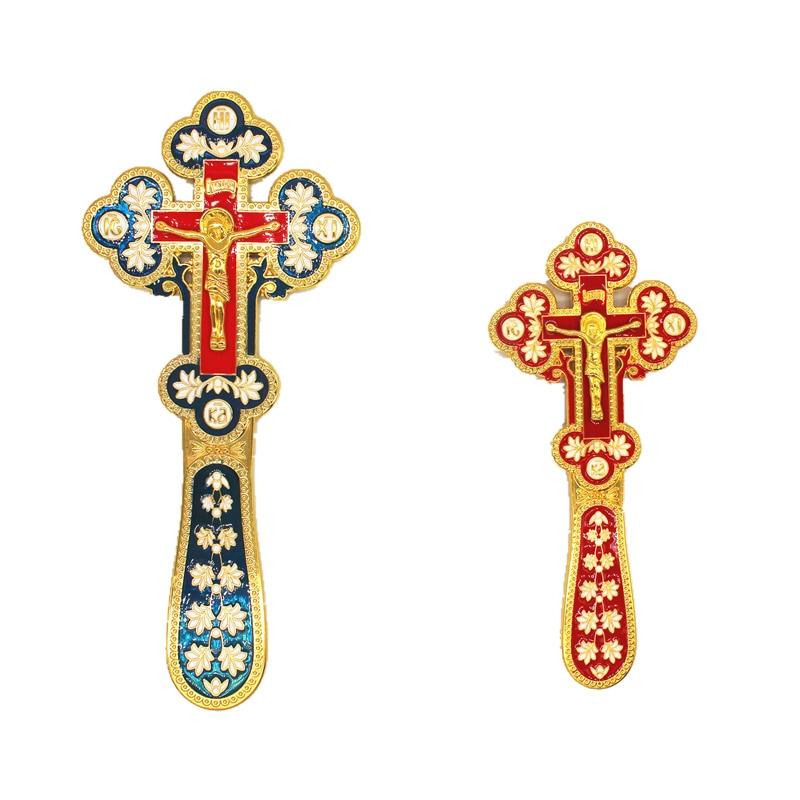 Jesus em uma cruz ortodoxa russa