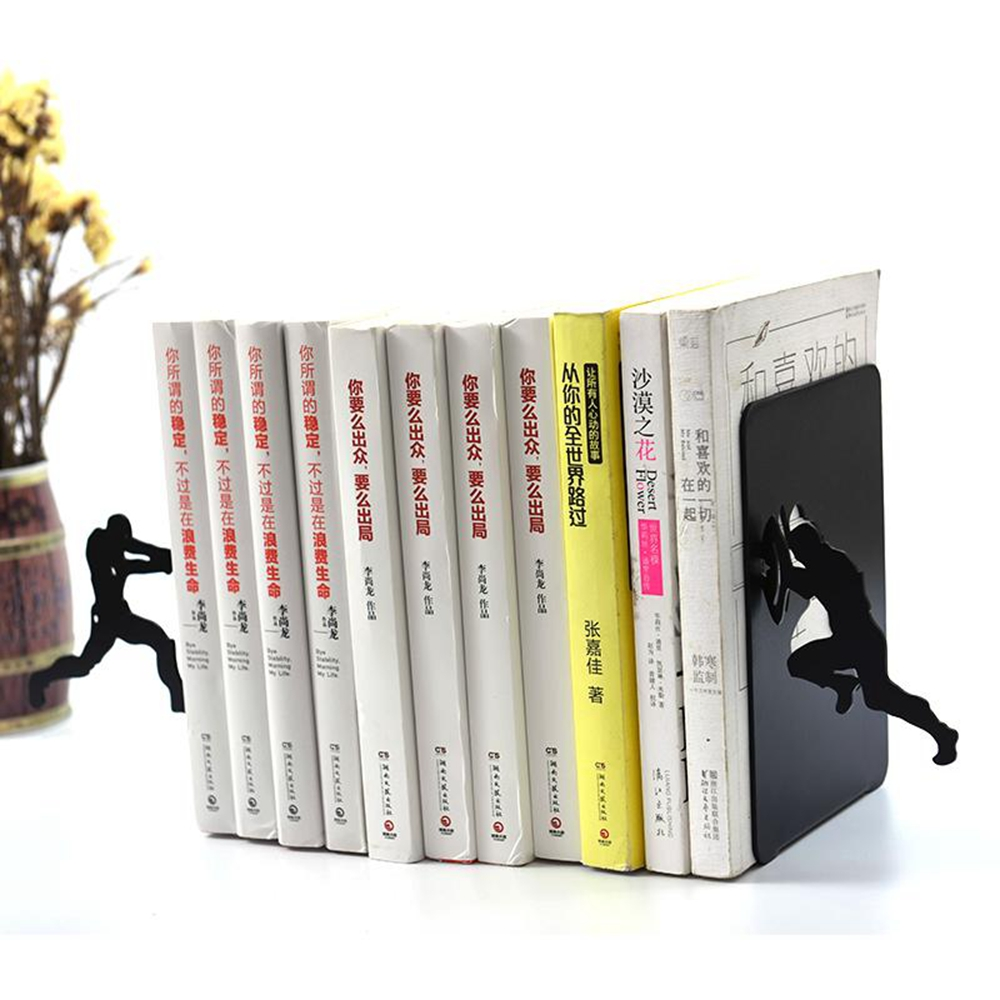 Creative Iron Man Captain Metal Desk Stands Bookend Holder Home Decoration Office School Supplies Stationery Gift Student