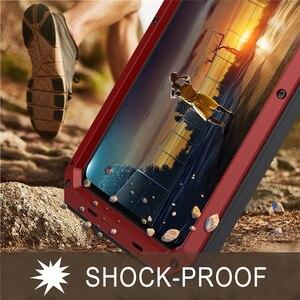 Image 5 - Сверхпрочный противоударный металлический чехол Doom с закаленным стеклом для HUAWEI Mate 20 P30, пыленепроницаемый защитный чехол