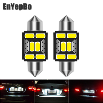 2Pcs LED Car License Plate Light C5W 39mm For BMW 3 5 series E36 E46 E34 E39 E60 X5 E53(00-07) M5 Car Number Lamp 12V White image
