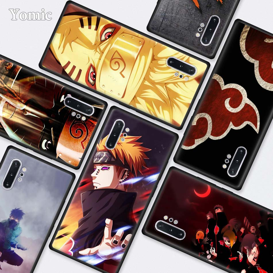 Naruto Kakashi Japanese anime Black Cases for Samsung Galaxy Note 10 5G 9 8 M40 M30 M20 S10 Plus A50 A70 Silicone Phone Cover
