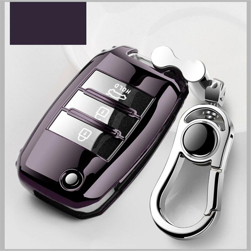 cheapest Soft TPU Car Key Case Key Cover For Kia Rio Sportage Ceed Cerato Sorento K2 K3 K4 K5 2018 2019 2020 Key Shell Holder Full Cover