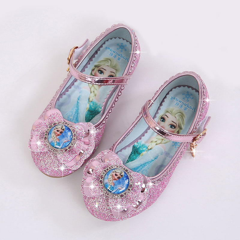 Toddler Girls Leather Shoes Kids Else Else Dancing And Party Shoes For Girls Spring Outwear Flat Shoes 4~15 Years Old Girl