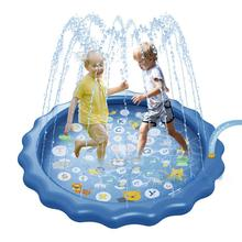 170cm Inflatable Spray Water Cushion Play Water Mat Lawn Games Summer Kids  Pad Sprinkler Play Toys Outdoor Tub Swiming Pool