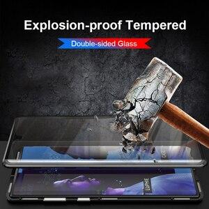Image 3 - 360 magnetische Adsorption Flip Telefon Fall auf Für Huawei Ehre 9X 20 Pro 20 Lite 10 Licht Zurück Abdeckung Für honer 9 X X9 Honor9X Fällen