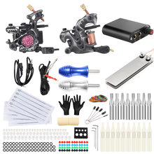 【Xiu】 crafts long New Style Tattoo Machine Set Coil Machine Two-Machine Full Set Tattoo Equipment Black Steel Wenxiu Tattoo Mach(China)