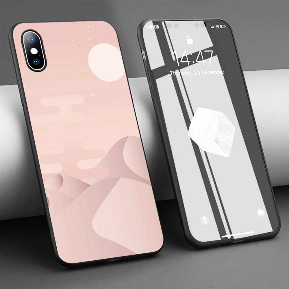 Coque rose gold desert Soft Silicone Phone Case for iPhone 11 Pro ...