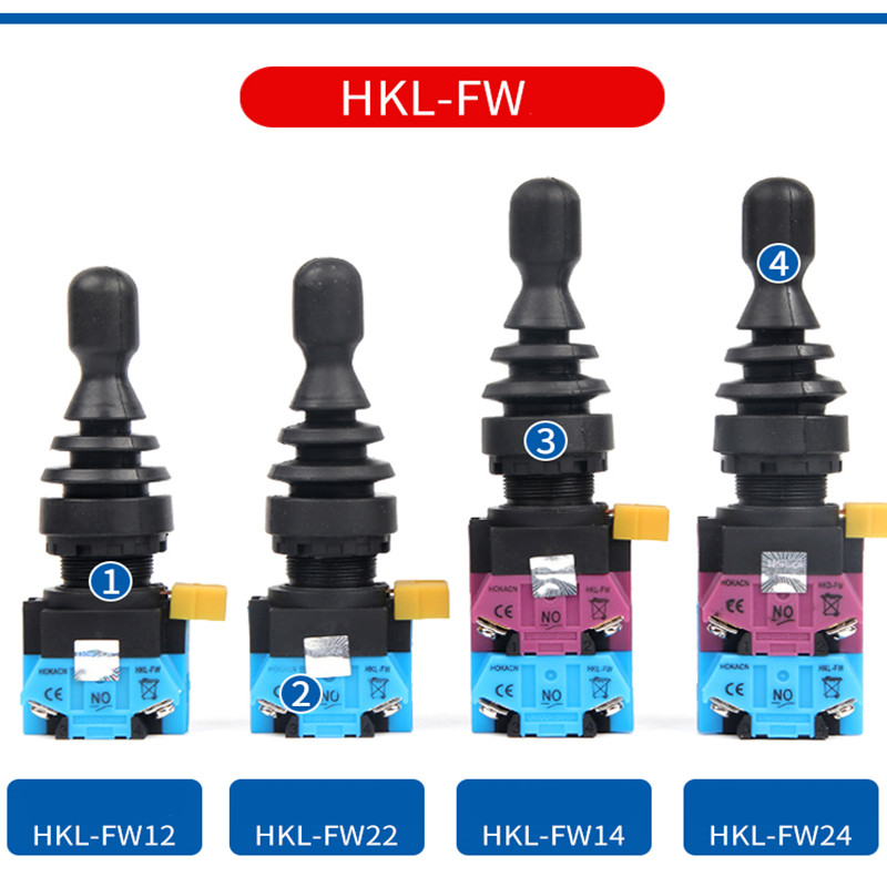 22mm Joystick Switch Momentary 4 position 4NO self Latching Spring Return Wobble Stick Monolever Rocker Cross Switch HKL-FW(China)