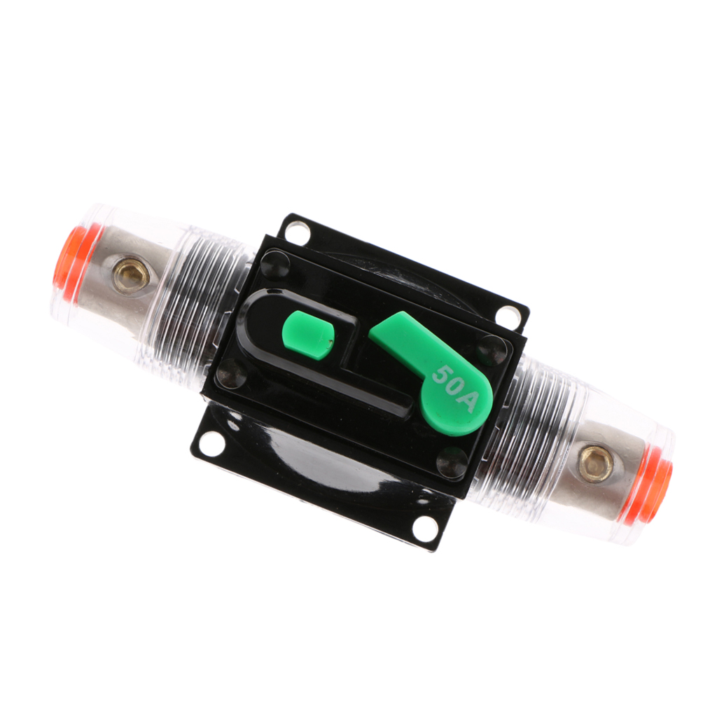 2PCS Auto Circuit Breaker 50A Manual reset For Car sound Vehicle electrical