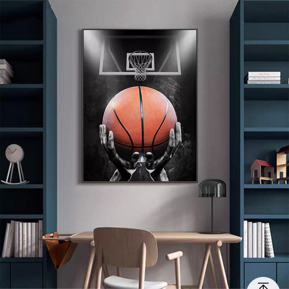 Фамилией баскетболиста и преобразует Баскетбол мечта художественные плакаты и принты холст Картины настенные картины для Декор в гостиную