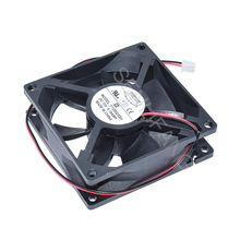 New For EVERFLOW F128025SH DC12V 0.19A 80*80*25mm Two Wires Square Cooling Fan