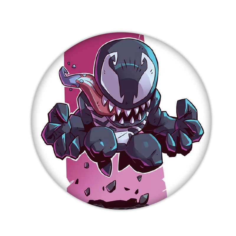 9PCS ขายส่งการ์ตูน HERO ไอคอนเข็มกลัดพลาสติก Avengers Spider Man Black Panther ป้าย Pins สำหรับ Boys Birthday PARTY ของขวัญ