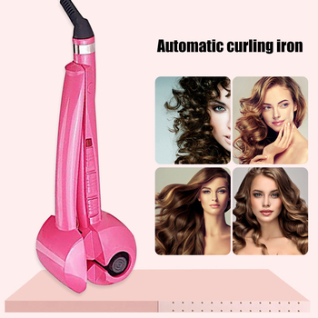 Automatic Hair Curler Auto Ceramic Wireless Curling Iron Hair Waver Tongs Beach Waves Iron Curling Wand Air Curler USB Cordless image