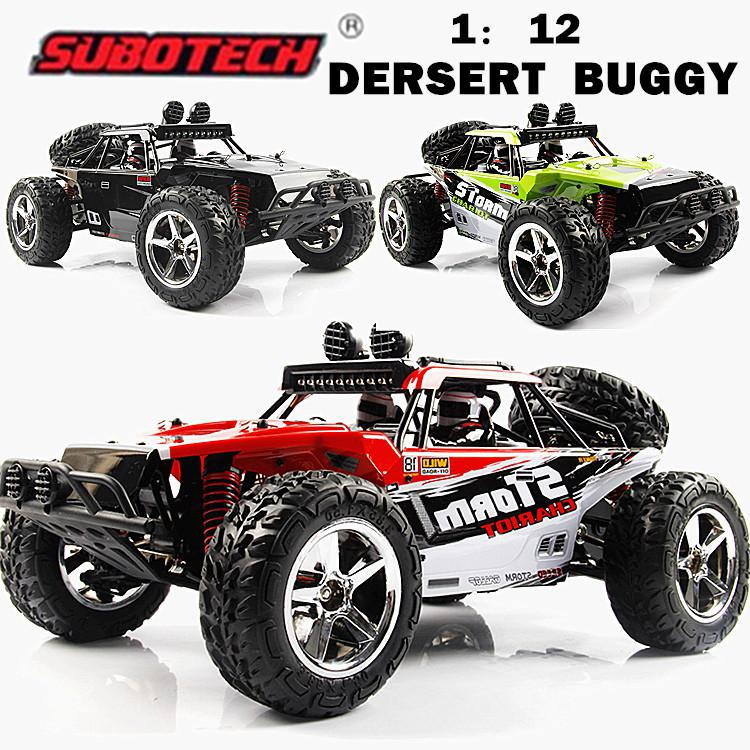 LeadingStar Subotech BG1513 2.4G 1/12 4WD RTR High Speed RC Off-road Vehicle Car Remote Control Car With LED Light