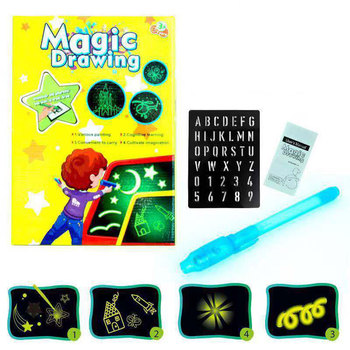 Educational Toy Drawing Board Tablet Fluorescent 3D Children Graffiti Magic Writing Luminous Draw