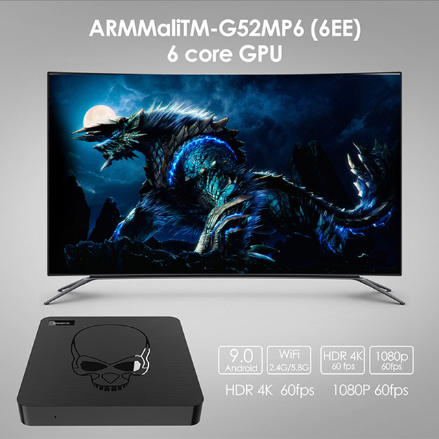 Beelink GT-rey Android 9,0 TV BOX Amlogic S922X GT 4 rey G DDR4 64G EMMC Dispositivo de TV inteligente 2,4G/5G Dual WIFI 1000M LAN 4K Con