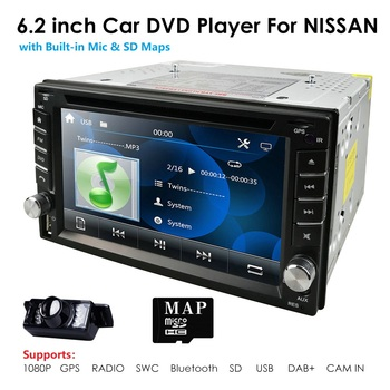 universal Car Radio Double 2 din Car DVD Player GPS Navigation In dash 2din Car PC Stereo Head Unit video RDS USB Free Map Cam image