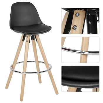Silla de madera minimalista para Bar, taburete de Bar moderno y firme, silla de Bar para café, Pub, bebidas, muebles para el hogar, silla de cocina HWC, 2 uds.