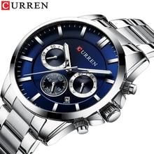2019 New CURREN Men Watches Luxury Quartz Fashion Mens Watch Waterproof Sports Wrist Chronograph Clock Relogio Masculino