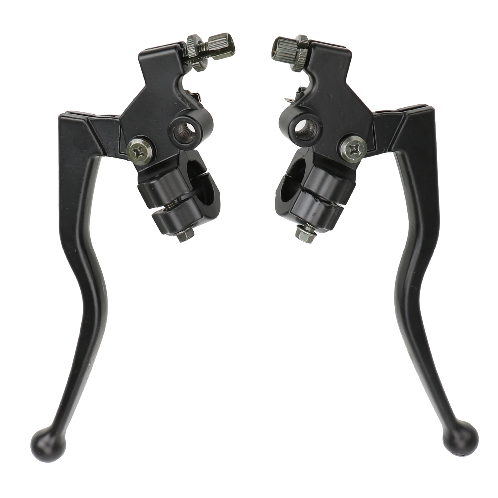 LEEPEE 1 Pair 22mm Aluminum Alloy Handlebar Clutch Lever Cable Front Brake Motorcycle Brake Clutch Levers Front Left And Right