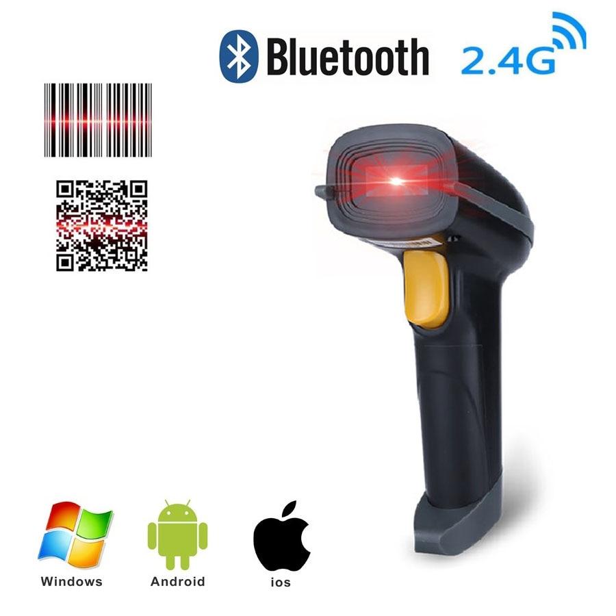 Tragbare 1D 2D QR bluetooth Barcode scanner usb portatil Drahtlose Bar code reader pocket laser CCD Für smartphone computer