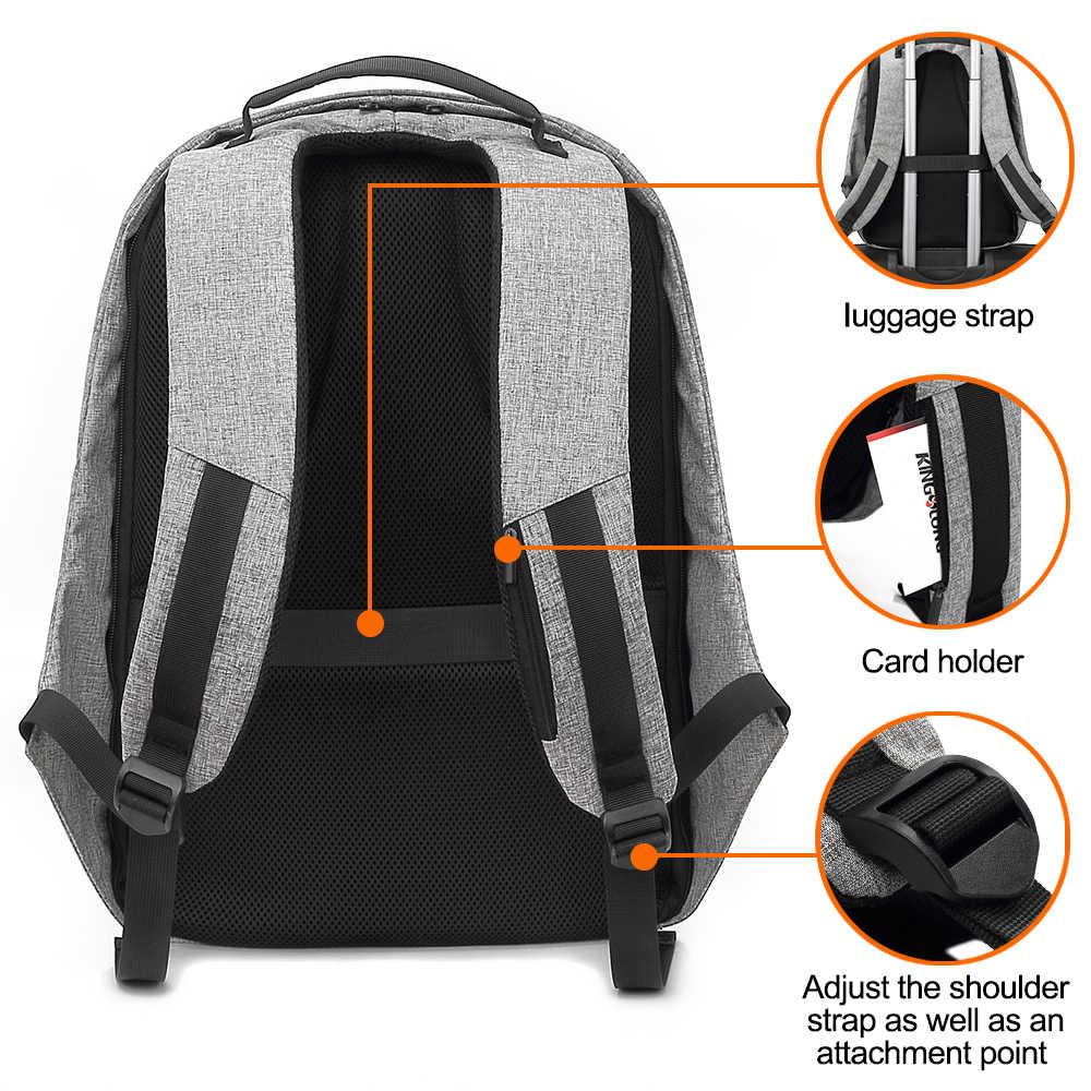 Kingslong erkek anti-hırsızlık sırt çantası 15 inç Laptop sırt çantası USB flash ile şarj okul gençlere yönelik sırt çantası erkek sırt çantası