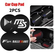 2PCS Car Badge Non slip Cup Mat Pad Auto Interior Coaster for BMW M F31 F34 F32 E52 E53 E60 E90 E91 E92 E93 F01 F30 F20 F10 F15