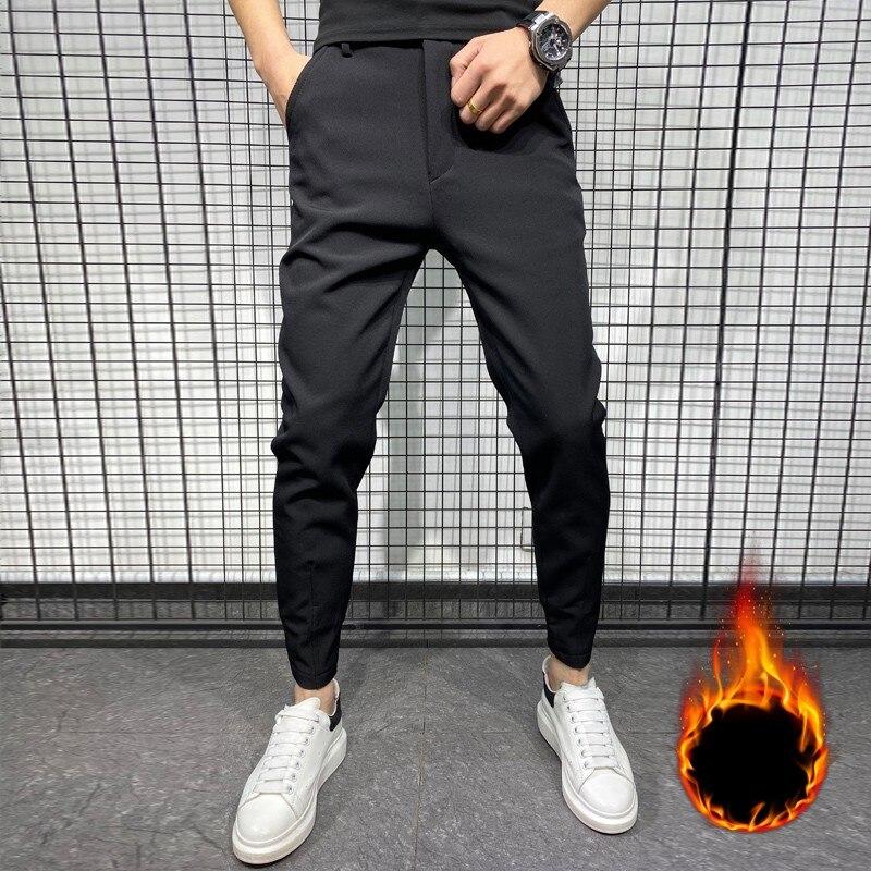Pantalones Cargo De Hip Hop Para Hombre Ropa De Calle A La Moda Diseno De Bolsillos Lateral Ajustados Primavera Y Verano 2021 Leather Bag