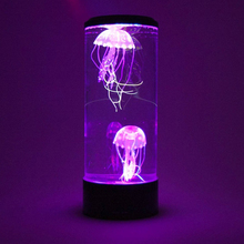 Hypnotic Color Changing Jellyfish Tank Aquarium Lamp Led Jellyfish Bedside Decor Night Light For Relaxing Home Child Xmas Gift