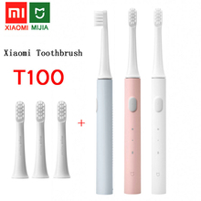 xiaomi Mijia T100 Sonic Electric Toothbrush Adult Ultrasonic Automatic Toothbrush USB Rechargeable Waterproof Tooth Brush Xiami cheap CN(Origin) Adults L83mm Acoustic Wave white pink blue MES302 Two Brushing Mode Optional 41 7g 187 5*28 5 mm 4 3g Support