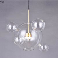 Italian Design Giopato Coombes Bolle Pendants Chandeliers Lighting Transparent Glass Soap Bubble Living Room Dining Room Bedroom