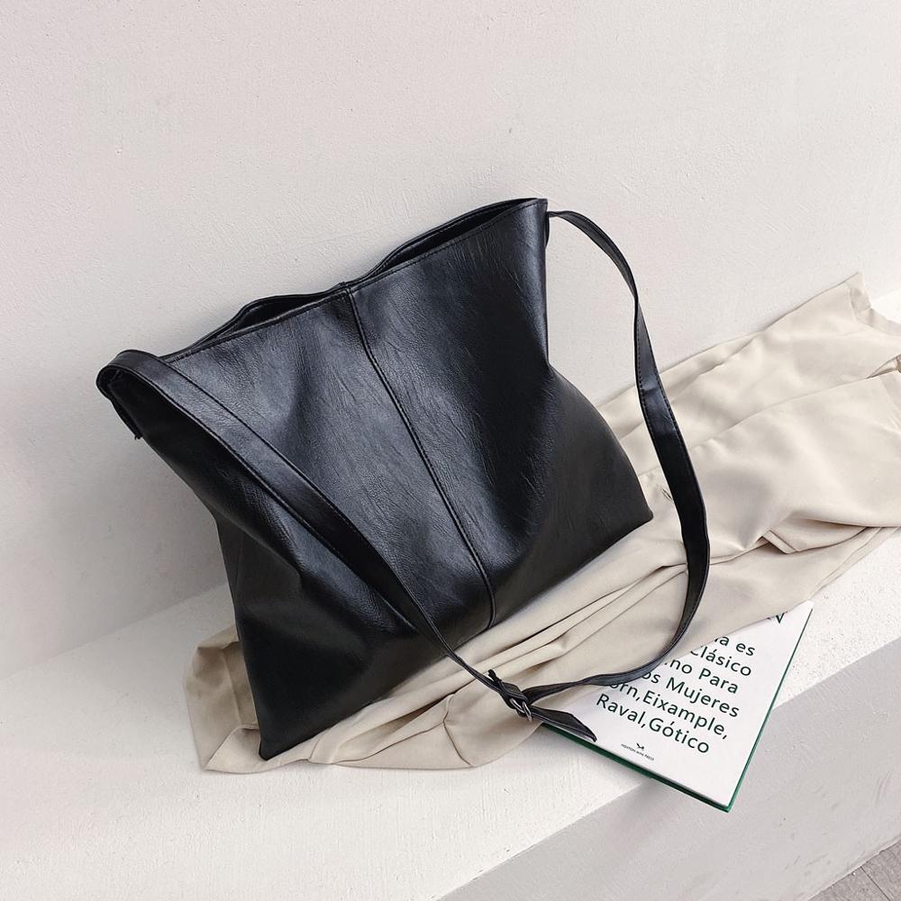 Classic Black Soft Leather Chain Crossbody Bag For Women Simple Brand Design Shoulder Bag New Solid Color Handbag #20