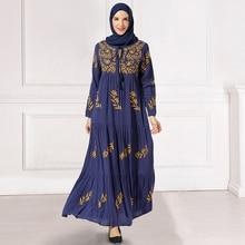 Siskakia Arabian Long Dress Chic Floral Embroidery