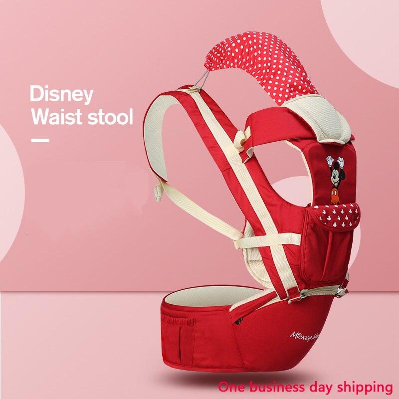 Disney Ergonomic Baby Carrier Backpack Infant Sling Toddler Waist Wrap Carrier Baby Holder Kangaroo Hipsit Mickey Minnie Belt