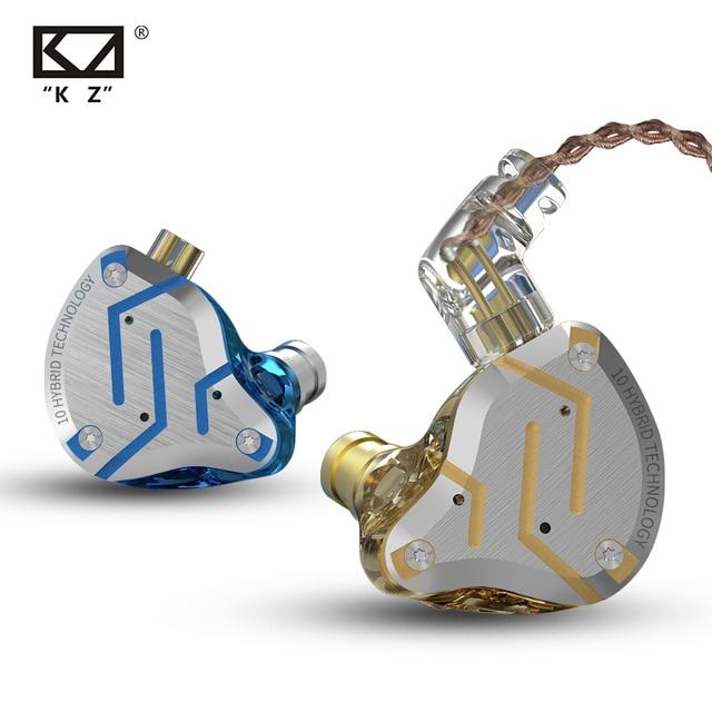 KZ ZS10 פרו 4BA + 1DD היברידי 10 יחידות HIFI בס אוזניות באוזן צג אוזניות