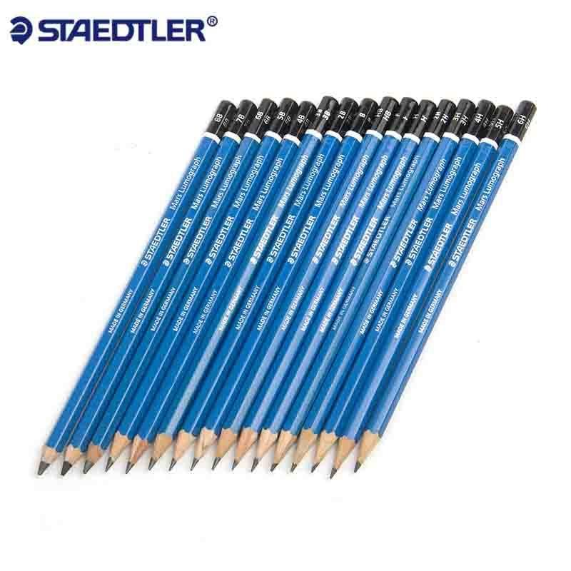 12pcs Staedtler Mars Lumograph Drawing Sketching Pencil F HB H 2H 3H 4H 5H 6H 7H 8H 9H HB B 2B 3B 4B 5B 6B 7B 8B 9B