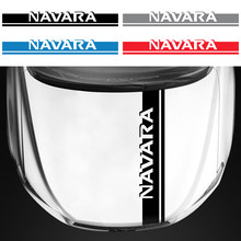 Carro-estilo decalque adesivo auto suv capa de motor vinil diy decoração tarja emblema bandagem para nissan navara acessórios de automóvel