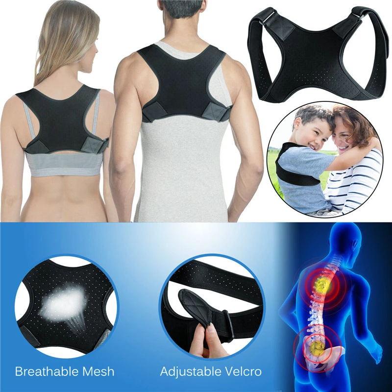 Brace Support Belt Adjustable Back Posture Corrector Clavicle Spine Back Shoulder Lumbar Posture Correction For Adult Unisex 4