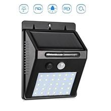 20/30/48 LED Solar light Solar Power PIR Motion Sensor Wall Light Outdoor Waterproof Energy Saving Street Garden Security Lamp недорого